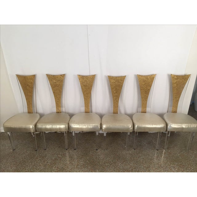 Vintage Glam & Unique Lucite Dining Chairs - Set of 6 - Image 2 of 9
