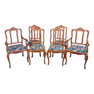 French Louis XV Dining Chairs, Set of 6