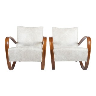 H269 Lounge Chair by Jindrich Halabala for Thonet, 1930s - A Pair