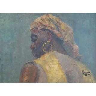 Francis Saffran African Women Portrait Painting