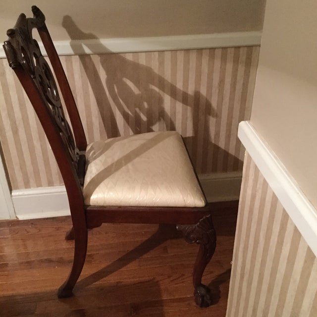 Maitland-Smith Mahogany Side or Accent Chairs- A Pair - Image 6 of 7