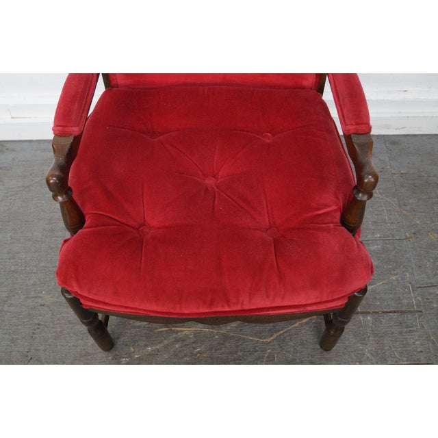 Image of French Country Fauteuils Arm Chairs - A Pair