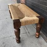 Image of Woven Lampakanay Rope & Wood Bench