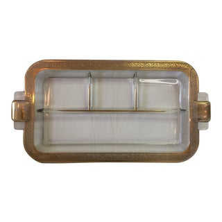 Art Deco Crystal & Gold Jewelry Holder
