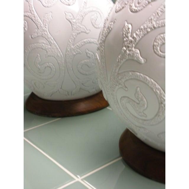 Ceramic and Teak Lamps - A Pair - Image 3 of 4