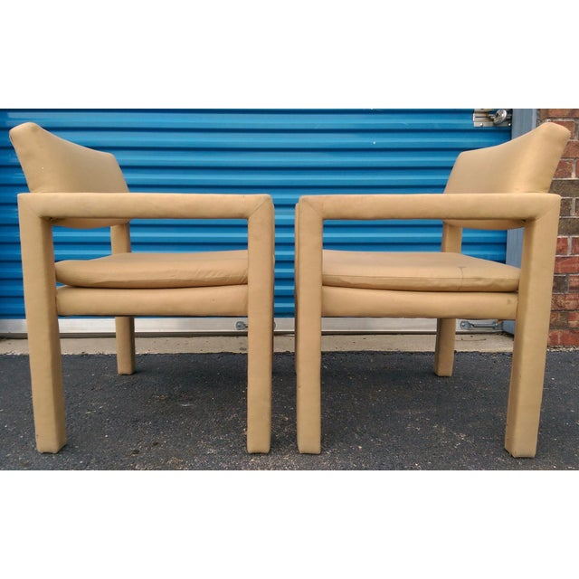 Milo Baughman & Thayer Coggin Parsons Arm Chairs - A Pair - Image 4 of 10