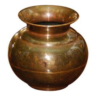 19th Century Small Brass Pot