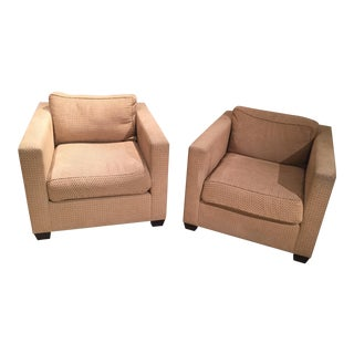 Custom Christian Liaigre Style Lounge Chairs - a Pair