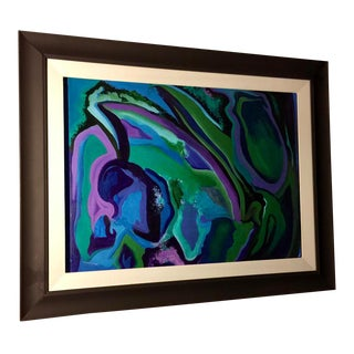 1970s Vintage Modern Framed Painting by G. Marchesi