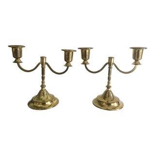 Vintage Brass Candelabra - A Pair