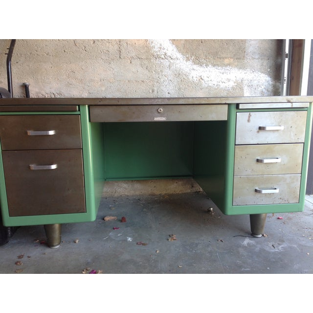 Image of Mid-Century Modern McDowell and Craig Tanker Desk