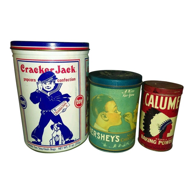 Vintage Snack & Baking Tins - Set of 3 - Image 1 of 3