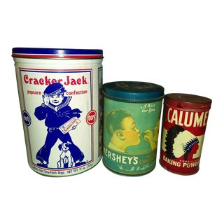 Vintage Snack & Baking Tins - Set of 3