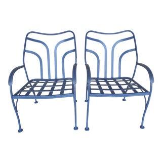 Vintage Woodard Hampton Park Pair Arm Chairs Model #1A053590