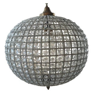 Large Crystal Sphere Chandelier