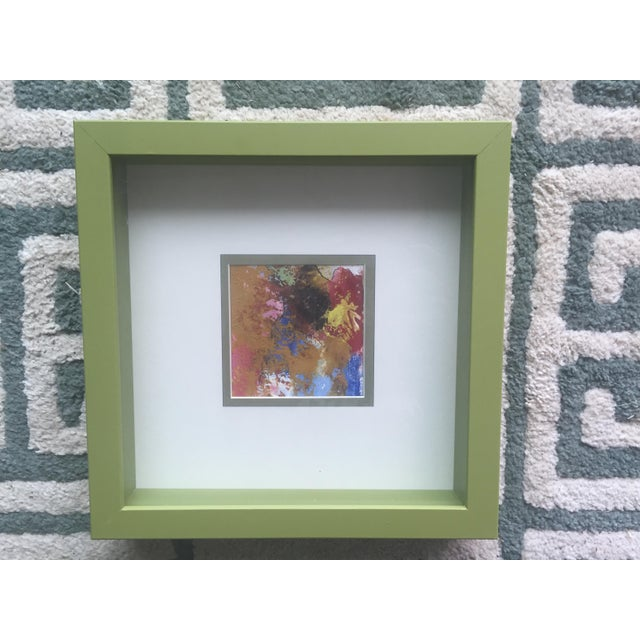 Original Abstract Painting Framed and Matted - Image 2 of 5