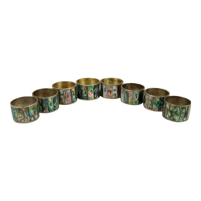 Abalone Shell Napkin Rings - Set of 8 - Image 1 of 8