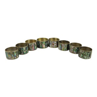 Abalone Shell Napkin Rings - Set of 8