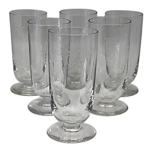 French Art Deco Hotelware Glasses - Set of 6