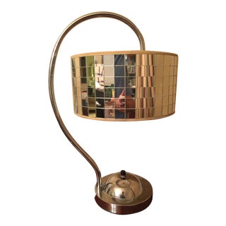 Vintage Chrome Mirrored Shade Table Lamp