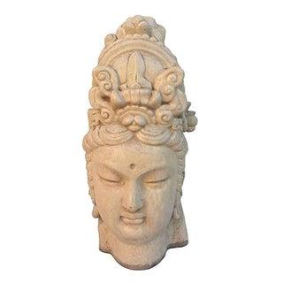 Chinese Ivory Terracotta Buddha Head