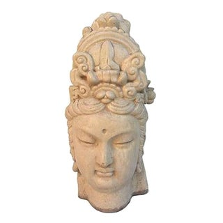 Chinese Ivory Terracotta Buddha Head