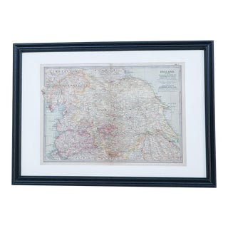 Hand Colored Antique Map of Yorkshire, England