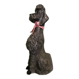 1950s Concrete French Poodle Statue