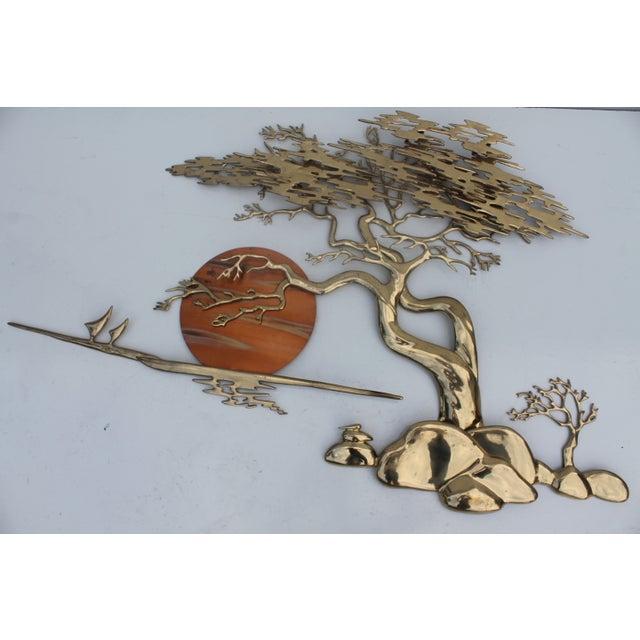 Image of Bijan Solid Brass Wall Sculpture