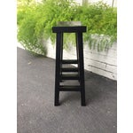 Image of Asian Black Lacquered Bar Stool