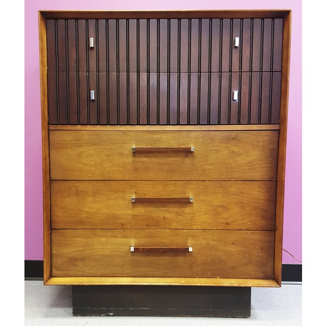 Mid-Century Lane Rosewood Accent Tall Chest - Image 2 of 11