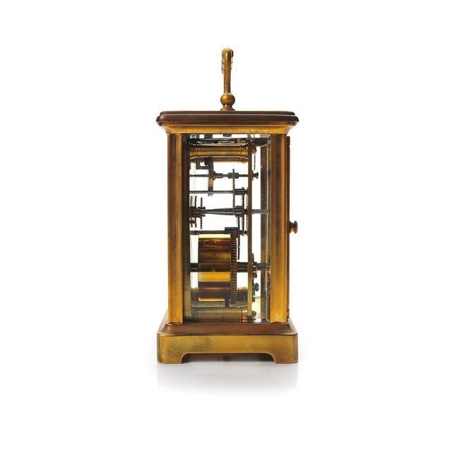 Stowell & Co. Antique Brass Carriage Clock - Image 3 of 9