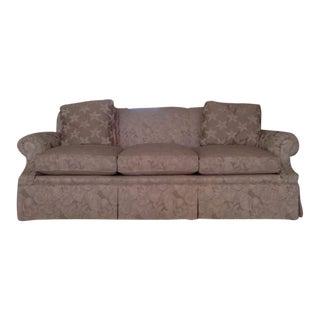 Neutral Wesley Hall Upholstered Three-Cushion Sofa