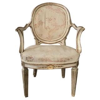 18th C. Gilt & Cream Painted Armchair