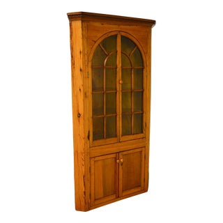 Antique 19th Century Southern Yellow Pine Corner Cabinet