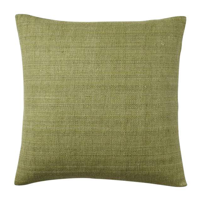 West Elm Green Tea Hand Loomed Silk Pillow Cover - Image 1 of 11