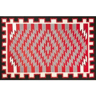 Navajo Style Wool Rug - 6′ × 9'