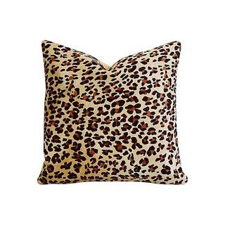 Leopard Spot Cowhide & Velvet Feather/Down Pillow