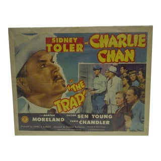 "Circa 1946 Vintage Sidney Toler ""The Trap"" Movie Poster"