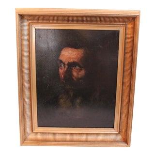Vintage Portrait of a Man Painting