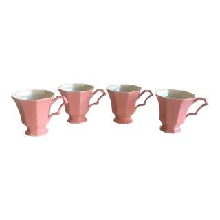 Vintage Pink Tea Cups - Set of 4