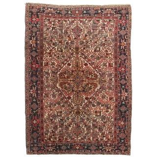Hand Knotted Persian Heriz Rug - 7′7″ × 10′9″