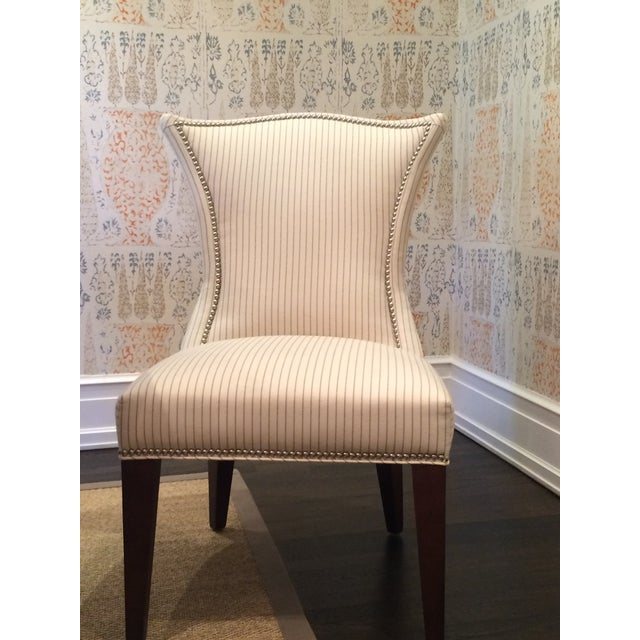 Lee Industries Cream Dining Chairs - Set of 8 - Image 3 of 6