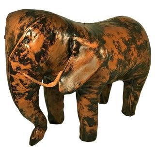 Vintage Leather Elephant Foot Stool by Sarreid, Ltd., Spain