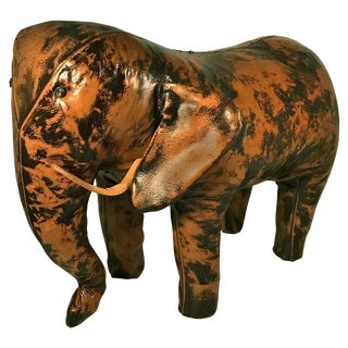 Vintage Leather Elephant Foot Stool by Sarreid, Ltd., Spain