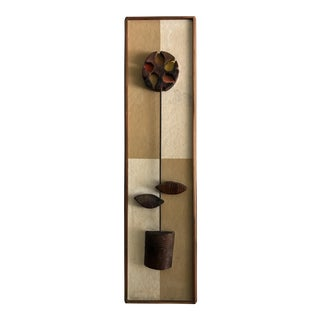 Witco Mid-Century Modern Abstract Flower Wall Sculpture
