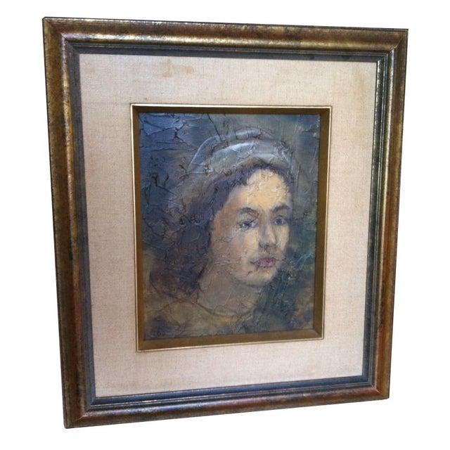 Vintage Oil Portrait of Young Sailor - Image 1 of 2