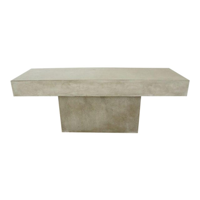CB2 Concrete Resin Fuze Bench - Image 1 of 6