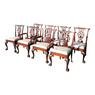 Baker Chippendale Style Dining Chairs - Set of 8