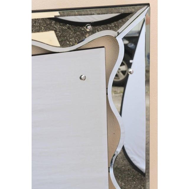 Hollywood Regency Monumental Scalloped Horizontal Mirror - Image 3 of 8